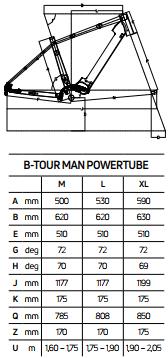 Atala B-Tour A9.1 Man geometrie