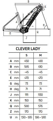 Atala CLEVER 6.1 LADY geometrie