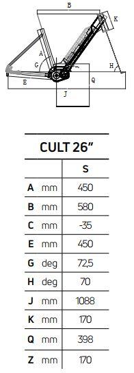 Atala CULT 6.1 26″ geometrie