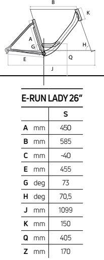 Atala E-RUN 7.1 LADY 500 geometrie