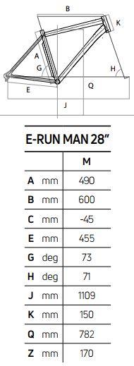 Atala E-RUN 7.1 FS MAN 500 geometrie