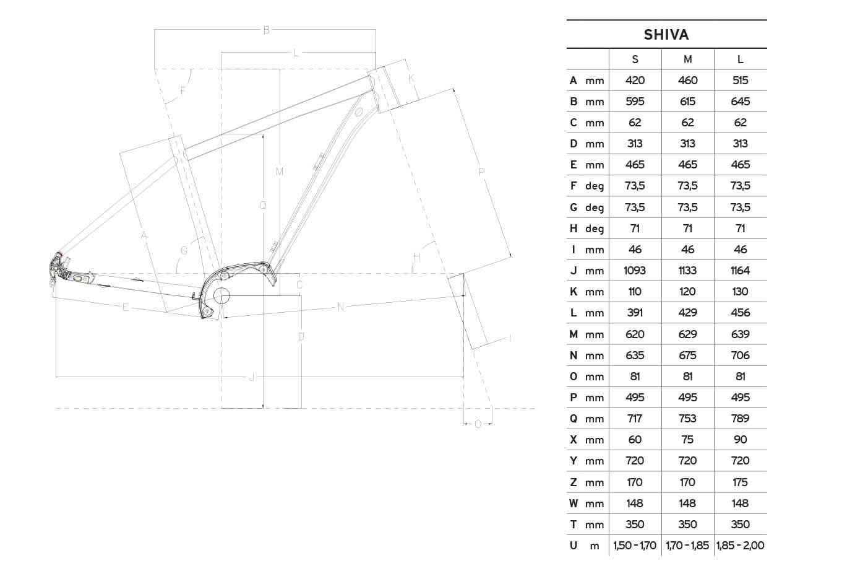 Atala SHIVA geometrie