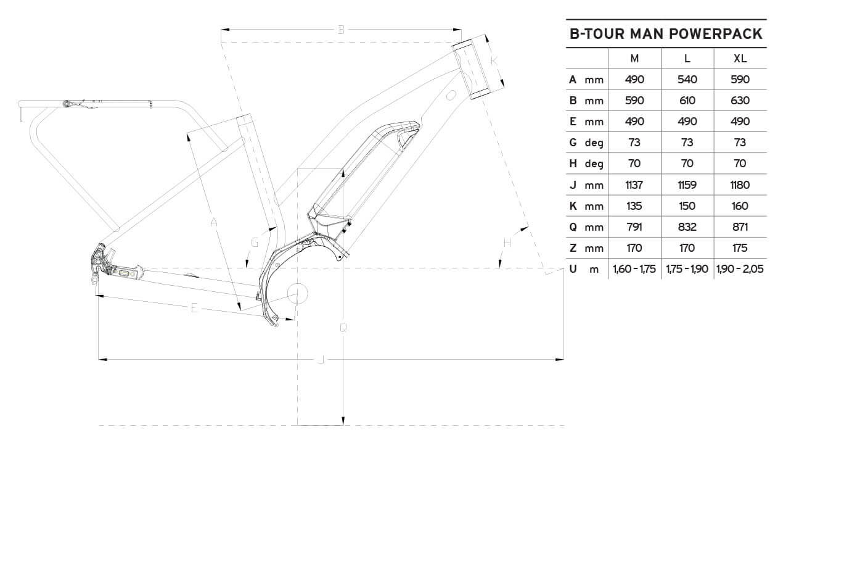 Atala B-Tour Man geometrie