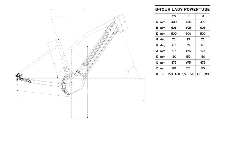 Atala B-Tour XLS Lady geometrie
