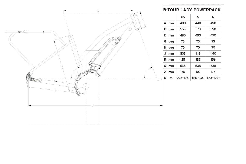 Atala B-Tour Lady geometrie
