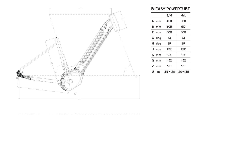 Atala B-Easy SL400 geometrie