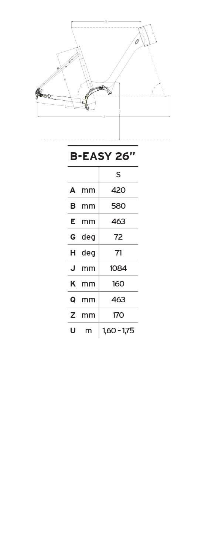Atala B-Easy S 26 geometrie