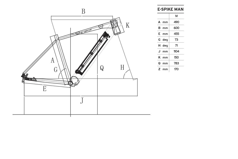 Atala E-Spike EVO Man geometrie