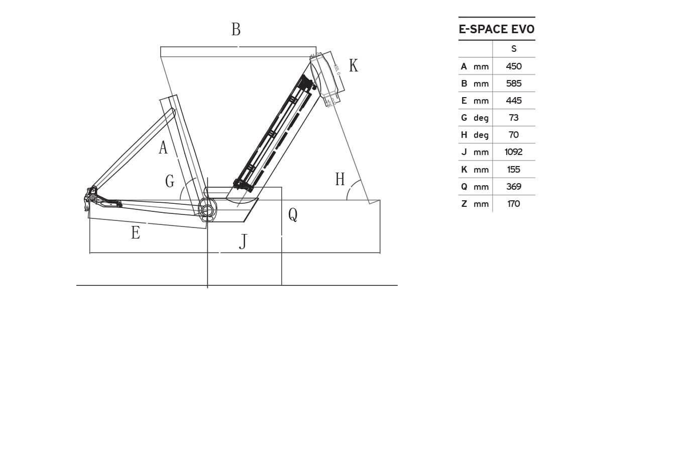Atala E-Space EVO geometrie