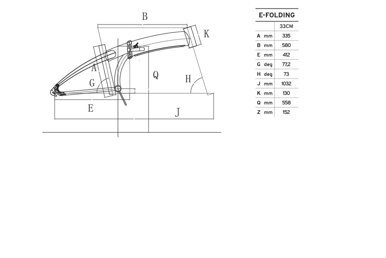 Atala E-Folding 6S geometrie