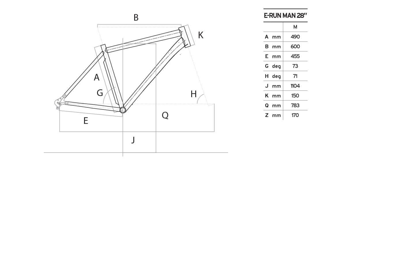 Atala E-Run 500 Man geometrie