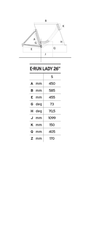 Atala E-Run 360 26 geometrie