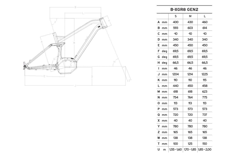 Atala B-XGR8 S LTD Gen2 geometrie